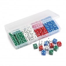 CLASSROOM DOT DICE SET - 16MM - IN CONTAINER
