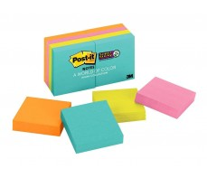 3M SUPER STICKY COLOURED POST IT NOTES 48MM X 48MM