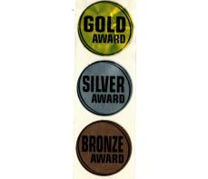 GOLD SILVER BRONZE STICKERS 112 ASST
