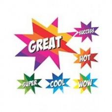 AVERY MERIT STICKER - Super Stars Metallic 100's