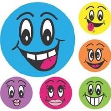 AVERY MERIT STICKER - Smiley Faces 102's