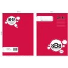 8B8 A4 Spiral Ruled Book