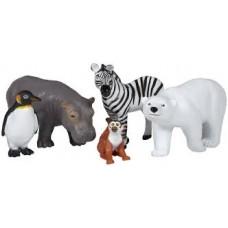 JUMBO ANIMAL SET - ZOO ANIMALS - 5'S