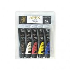APEX ACRYLIC SET - 5 X 75ML - PAINTS