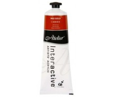 ATELIER ACRYLIC PAINT 80ML S3 RED GOLD