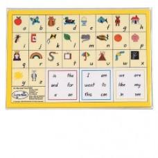 A4 - ALPHABET CARDS - B101 - HANDWRITTEN FONT