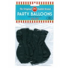 BALLOONS - BLACK - PKT OF 100
