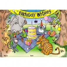 BIRTHDAY WISHES CERTIFICATES - PKT 200 - BC385A