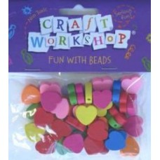 CRAFT BEADS - HEARTS
