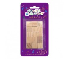 CRAFT BLOCKS NATURAL 1.5CM PACKET 30