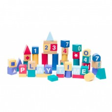 BUILD AND PLAY ALPHABET BLOCKS WOODEN