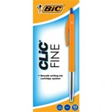 BIC CLIC PENS - FINELINE BLUE - EACH
