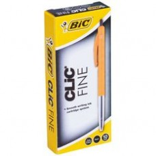 BIC CLIC PENS - FINELINE BLACK - EACH
