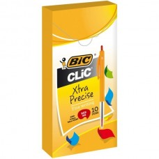 BIC CLIC PENS - FINELINE RED - EACH