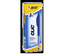 BIC CLIC PENS MEDIUM BLUE - EACH