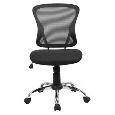 BRENTON CHAIR BLACK MESH MID BACK