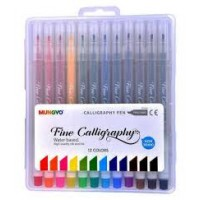CALLIGRAPHY SET 12 2MM ASSORTED COLOURS