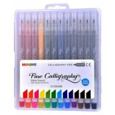 CALLIGRAPHY PENS -  SET 12 - 2MM - ASST COLOURS