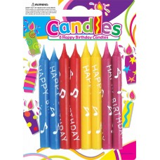 HAPPY BIRTHDAY - CANDLES - 8'S