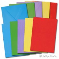 COLOURED CARDS & ENVELOPES - PKT 30