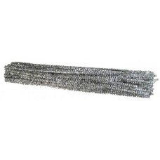 METALLIC - SILVER - PIPE CLEANERS - 30CM - 100'S