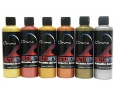 CHROMA MOLTEN METALS 250ML ROJO GOLD ACRYLIC PAINT