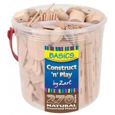 BASICS CONTRUCT AND PLAY - NATURAL TUB
