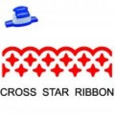 BORDER PUNCH - CROSS STAR RIBBON - CP16L