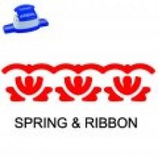BORDER PUNCH - SPRING & RIBBON - CP16L