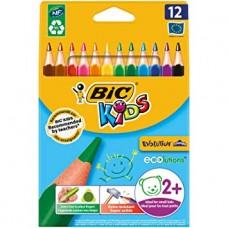 BIC - KIDS TRIANGULAR PENCILS - 12'S - FULL
