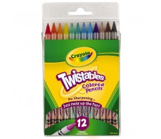 CRAYOLA COLOUR PENCILS TWISTABLE 12'S FULL