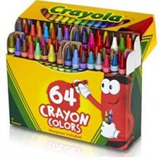 CRAYOLA - CRAYONS - 64'S