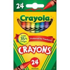 CRAYOLA - CRAYONS - STANDARD BOX - 24'S - ASST