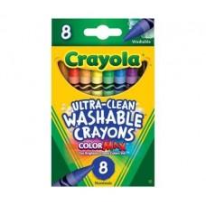 CRAYOLA - WASHABLE - LARGE CRAYONS - 8'S