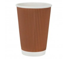 PAPER CUPS CORRUGATED 280ML PACKET 10