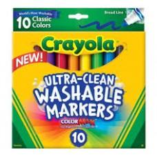 CRAYOLA - WASHABLE MARKERS - CLASSIC - 10'S
