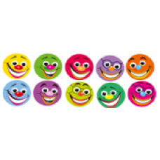 Merit Stickers - Dynamic Dots - Smiles 13mm DD404