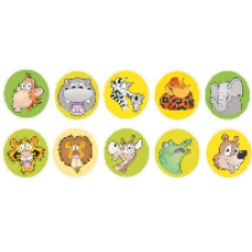 Merit Stickers - Dynamic Dots - Zoo 13mm DD409