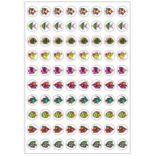 Merit Stickers - Dynamic Glitz - Fishy DG596