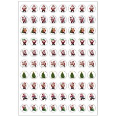 Merit Stickers - Dynamic Glitz - Christmas Santa DG599