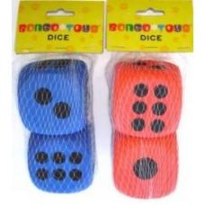 FOAM DICE - 68MM - TWIN PACK