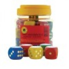 LARGE WOODEN DICE TUB 16 - 25MM