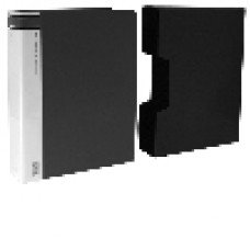 A4 Clearfiles 100 Page with Case Black