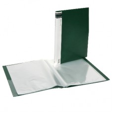 A4 Clearfiles 10 Page Forest Green