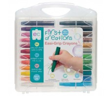 FIRST CREATIONS EASI GRIP CRAYONS PKT 24