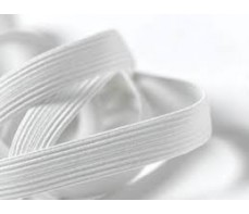ELASTIC WHITE 6MM FLAT X 4.8 METRES