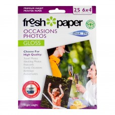 INKJET PHOTO PAPER 6 X 4 25'S GLOSS 180GSM ( CLEARANCE PRICE)