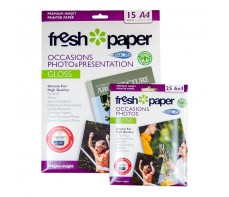 INKJET PHOTO PAPER A4 15'S GLOSS 180GSM + BONUS ( CLEARANCE)