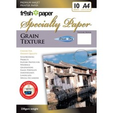 INKJET PHOTO PAPER A4 230GSM GRAIN TEXTURE 10'S (CLEARANCE)