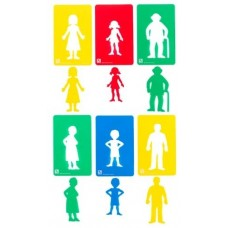 FAMILY MEMBERS - 6 PIECE STENCILS